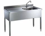 单槽水槽带沥水板