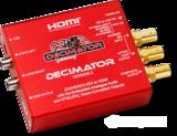 Decimator2 (3G/HD/SD)-SDI轉HDMI和NTSC/PAL的同時支持解嵌模擬音頻