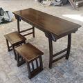 国学桌幼儿园课桌书画桌实木仿古国学桌椅国学堂课桌