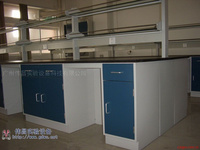 实验室家具/伟昌实验室全钢中央台/钢玻试剂架