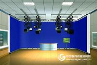 高清虛擬演播室電視臺虛擬演播室專業制作真三維藍箱綠箱摳像工程