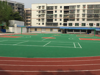 学校运动球场幼儿园操场游乐区塑胶地面EPDM塑胶颗粒彩色环保塑胶