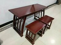 北方老榆木書法桌書畫桌國學桌椅書法桌椅