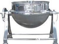 全钢可倾电加热带搅拌刮壁夹层锅/可倾式夹层锅