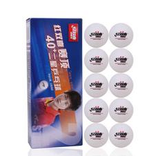 红双喜【DHS】赛顶白色二星 40mm+乒乓球 (10只装)CD40B