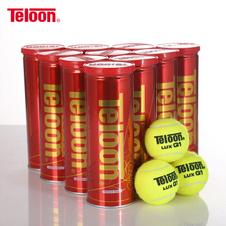 天龙【Teloon】天龙网球比赛练习用球P4高弹耐磨训练球包邮 LUXQ1(3只/听)【1箱24听】