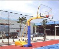 供应国际标准比赛户外箱式移动钢化玻璃篮球架