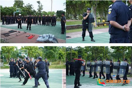 北京理工大学珠海学院组织开展反恐防暴培训演练