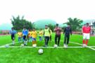王中磊为云南芒市营盘小学建成足球场