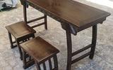 國學桌幼兒園課桌書畫桌實木仿古國學桌椅國學堂課桌