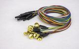 脑电电极金盘盘状脑电图电极线1.5米2.5米