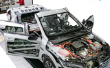 汽车教具 汽车教学实训设备 比亚迪秦混合动力动力模块静态解析实操平台 新能源汽车实训设备