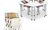 智慧学习课桌椅 互动课堂课桌椅 培训桌 长条桌 活动桌 简易折叠会议桌 学习桌 培训折叠桌 翻板桌 滑轮桌
