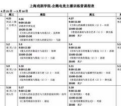上海戏剧学院-企鹅电竞主播训练营