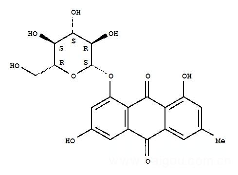 大黄素-8-β-D-吡喃葡萄糖苷,大黄素-8-β-D-吡喃葡萄糖苷23313-21-5,中药标准品,对照品