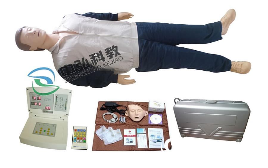 電腦心肺復蘇訓練模擬人帶搖控器,成人CPR訓練模型人