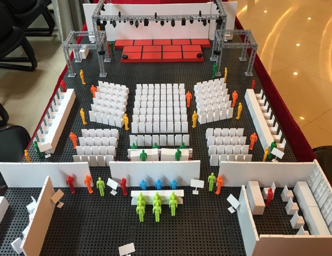 會展實訓教具-會議場地布局模擬沙盤